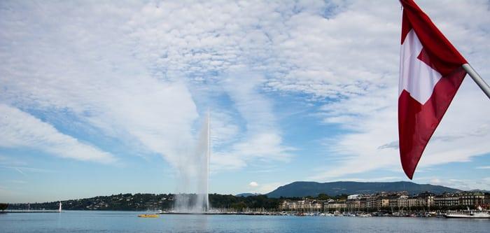 Suisse Genève jet d'eau